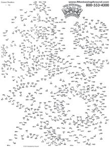 image about Free Extreme Dot to Dot Printable named Monkeying In excess of Talk the Dot Puzzles - Totally free PRINTABLE