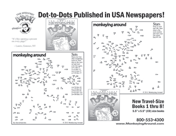 Free Printable Connect the Dot Puzzle Download Greatest Dot-to-Dot Mini Travel Newspaper Book sample