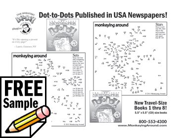 Free Printable Connect the Dot Puzzle Download Greatest Dot-to-Dot Mini Travel Newspaper Book: Vol #1 sample