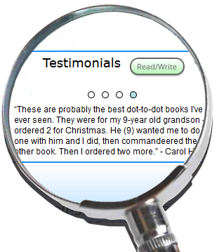 Testimonials about the Greatest Dot-to-Dot Books