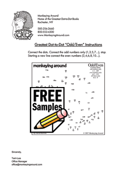 Greatest Dot-to-Dot Odd/Even Connect Puzzle Instructions