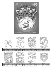 The Greatest Dot-to-Dot Adventure Book #1 Answer Key