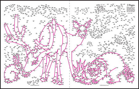2 Page Dot-to-Dots Puzzle Preview from Greatest Dot-to-Dot Super Challenge Book #6