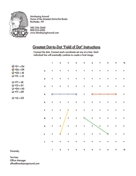 Greatest Dot-to-Dot Field of Dots Puzzle Instructions