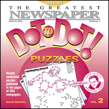 The Greatest Dot-to-Dot Mini Travel Newspaper Book: Vol #2 Front Cover