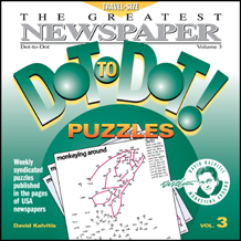 Greatest Dot-to-Dot Mini Travel Newspaper Book: Vol #3