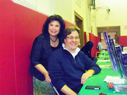 David Kalvitis at Syracuse Children's Book Fest with author Vivian Vande Velde