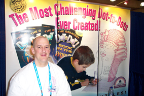 Ron at the NYC City Toy Fair Dot-to-Dot Booth
